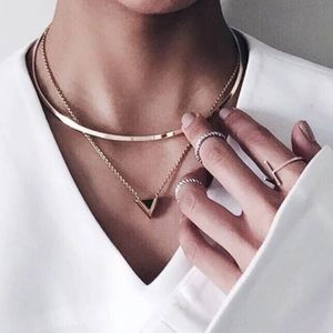 Jewelry - 🆕 Double Layer Pendent Choker Statement Necklace